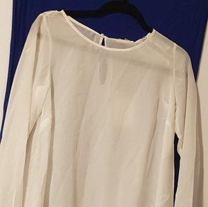 Sheer n light white blouse